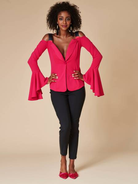 Off-shoulder-Blazer